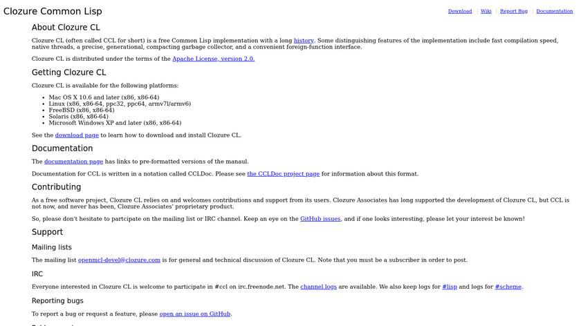 Clozure Common Lisp Landing Page
