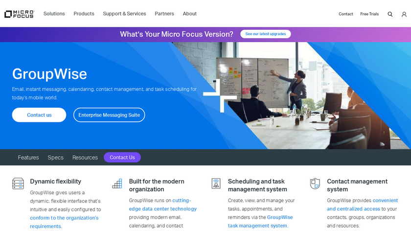 Micro Focus GroupWise Landing Page