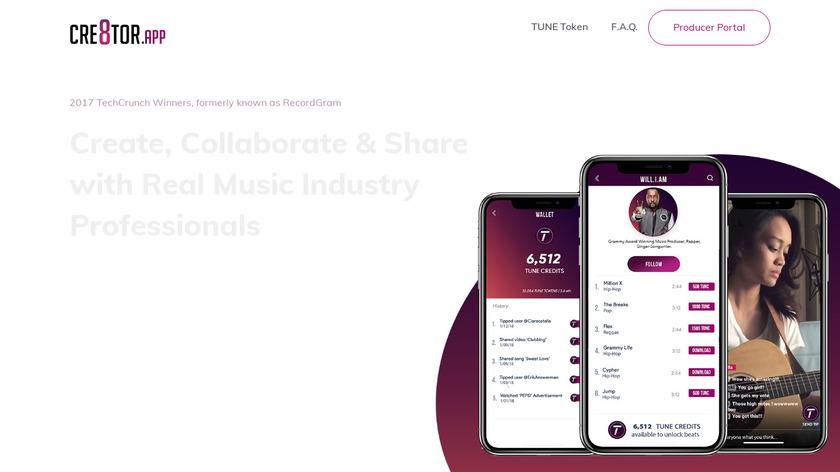 RecordGram Landing Page