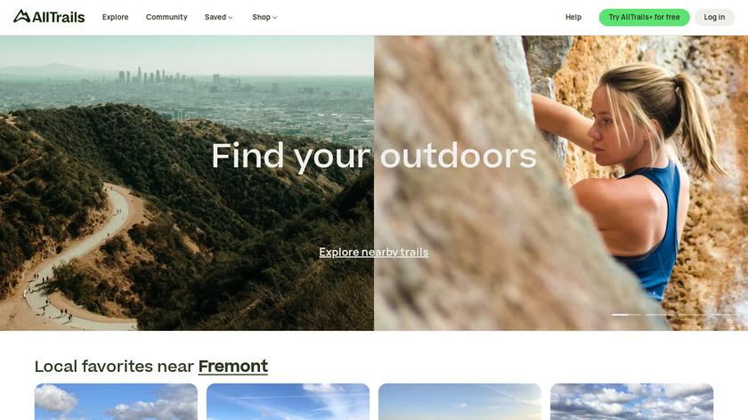 AllTrails Landing Page