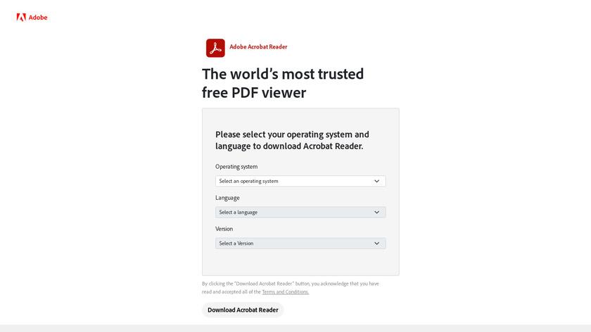 Adobe Reader Landing Page