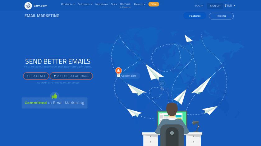 Sarv.com Email Marketing Landing Page