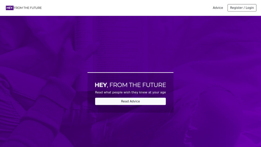 Hey From The Future Landing Page