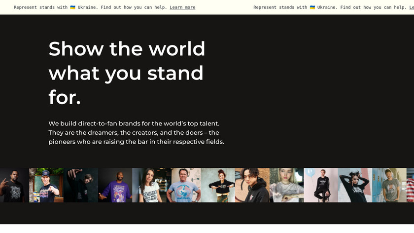 Represent Landing Page