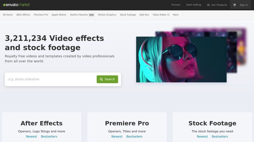 VideoHive Landing Page