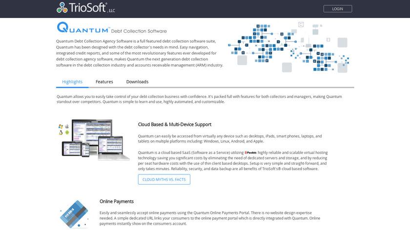 TrioSoft Quantum Landing Page