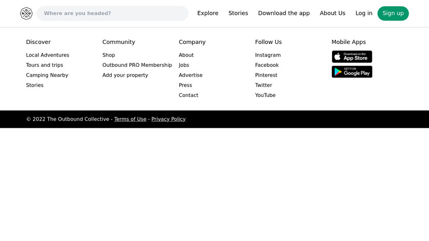 The Outbound Landing Page