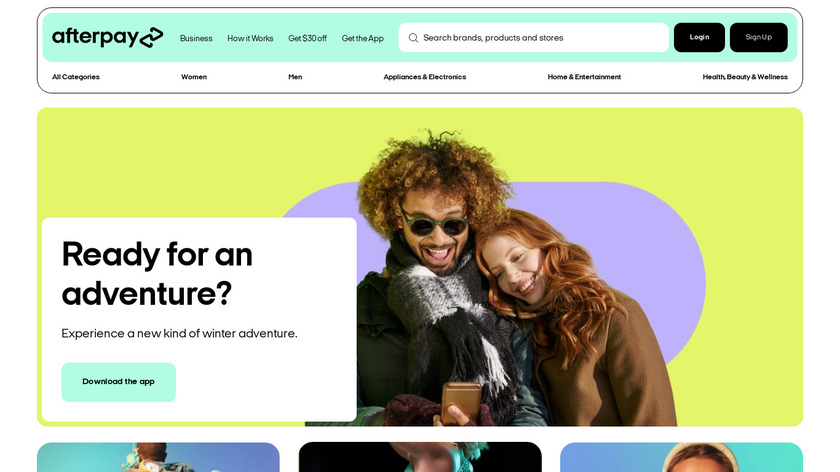 Afterpay Landing Page