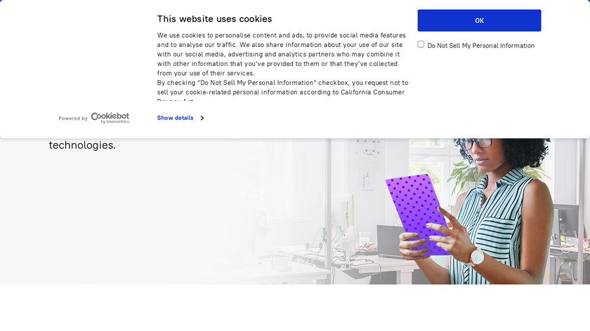 ABBYY Business Card Reader Landing Page