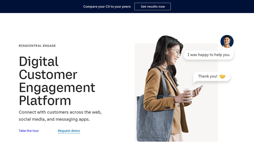 Dimelo By RingCentral Landing Page