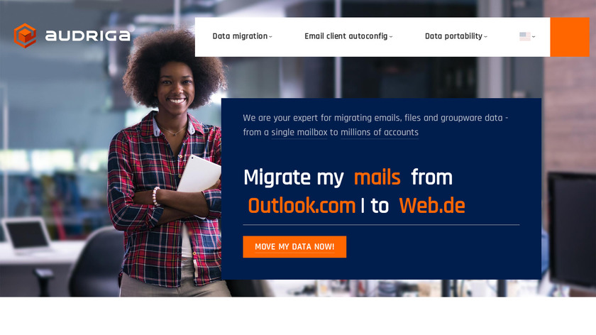 audriga Email and Groupware migration Landing Page