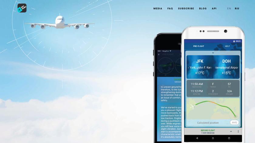 SkyGuru Landing Page