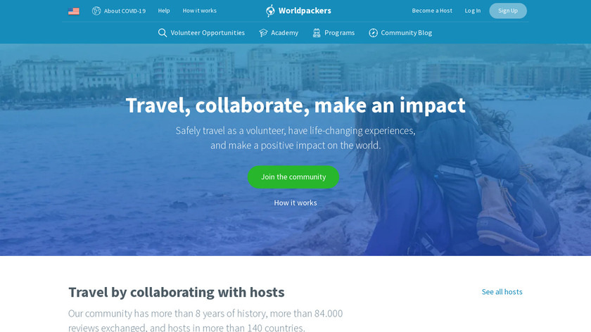 Worldpackers Landing Page