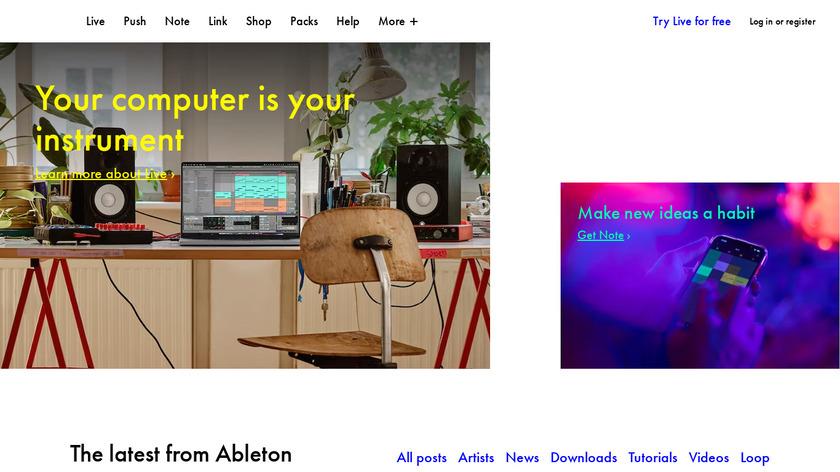 Ableton Landing Page