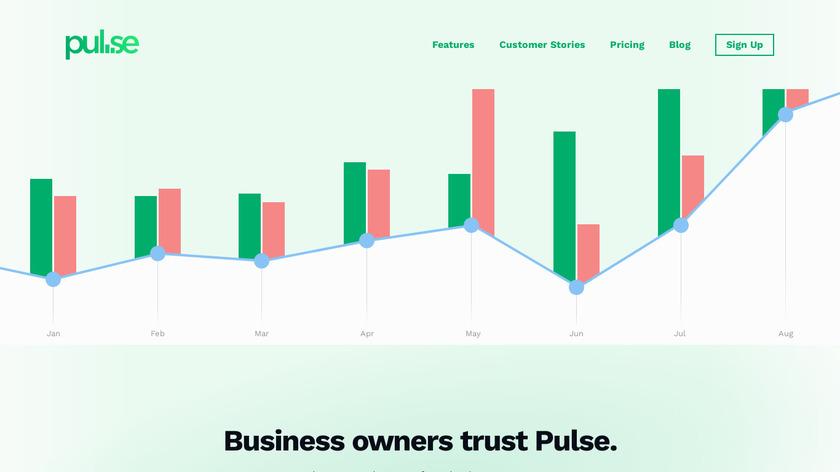 Pulse App Landing Page