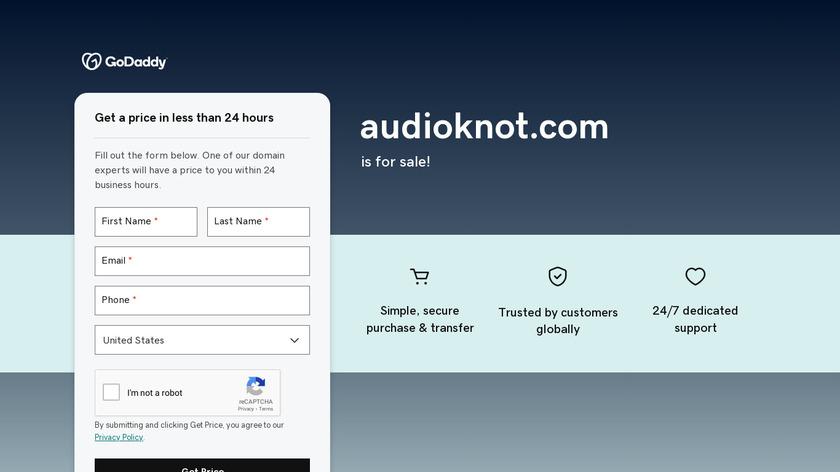 Audioknot Landing Page
