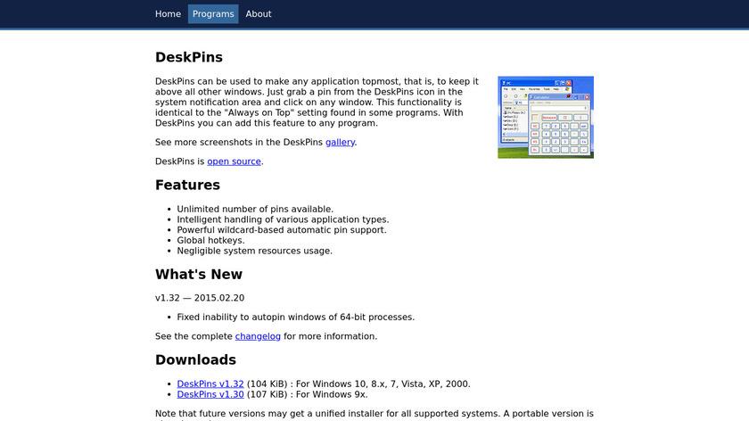 DeskPins Landing Page