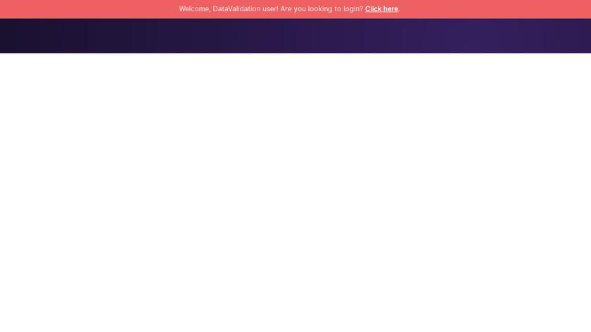 DataValidation Landing Page