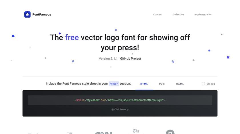 FontFamous Landing Page