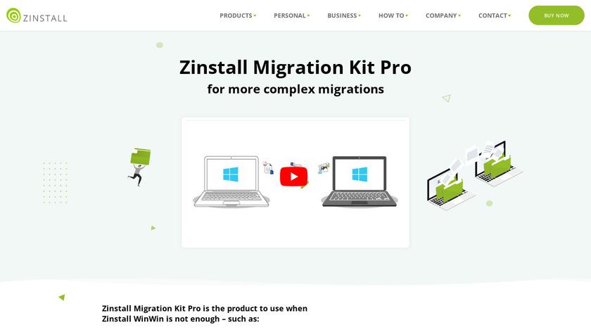 Zinstall Migration Kit Pro Landing Page