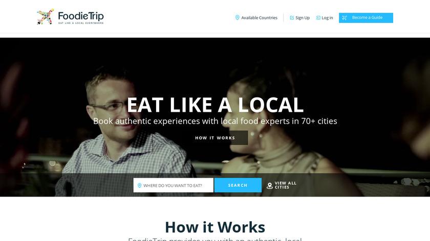 FoodieTrip Landing Page