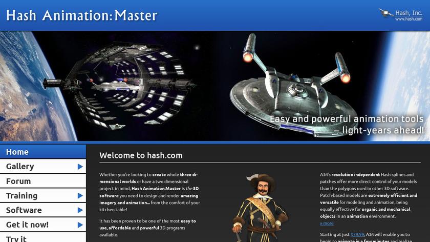 Hash Animation Master Landing Page