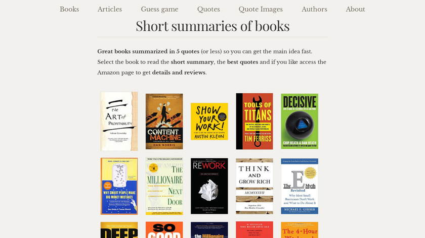 Book Summaries Landing Page