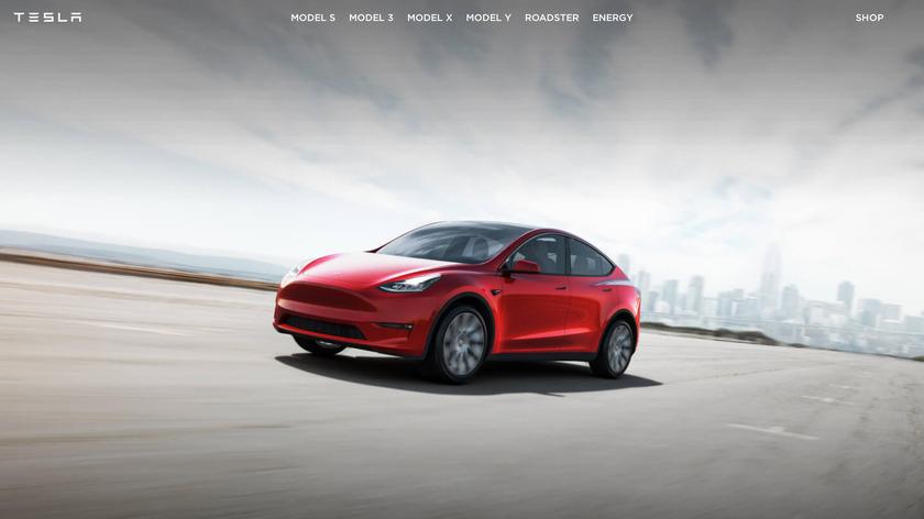 Tesla Model Y Landing Page