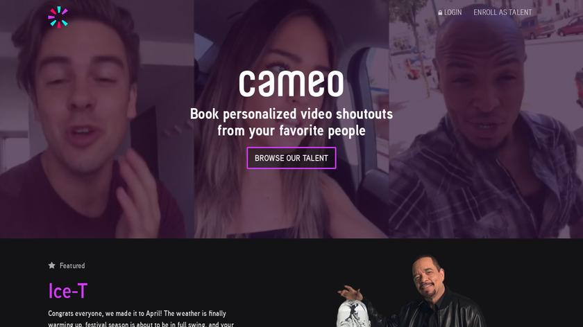 Cameo Landing Page