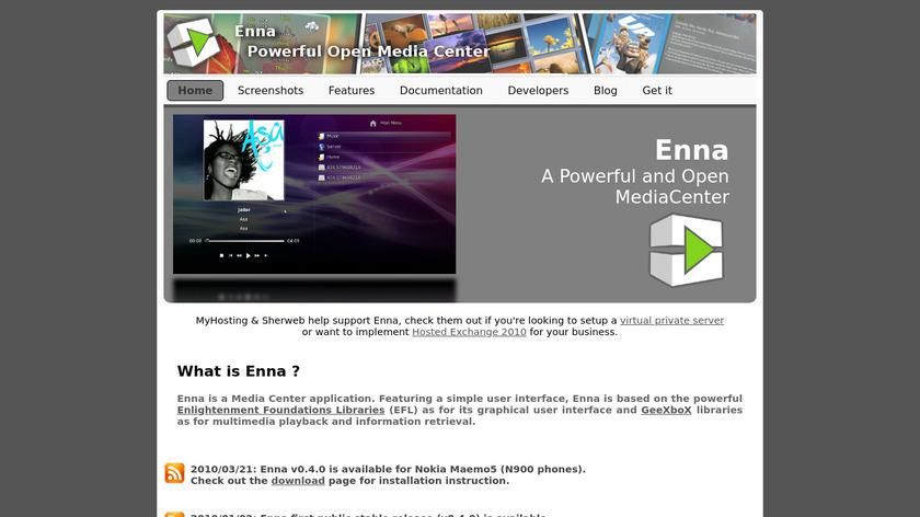 Enna Landing Page