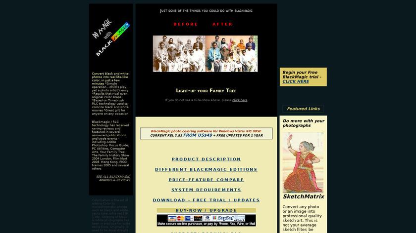 BlackMagic Landing Page