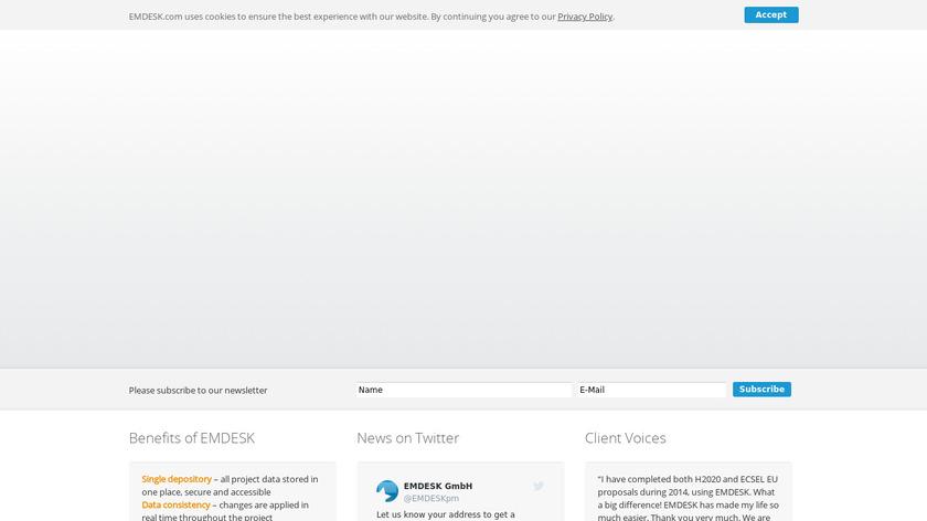 EMDESK Platform Landing Page