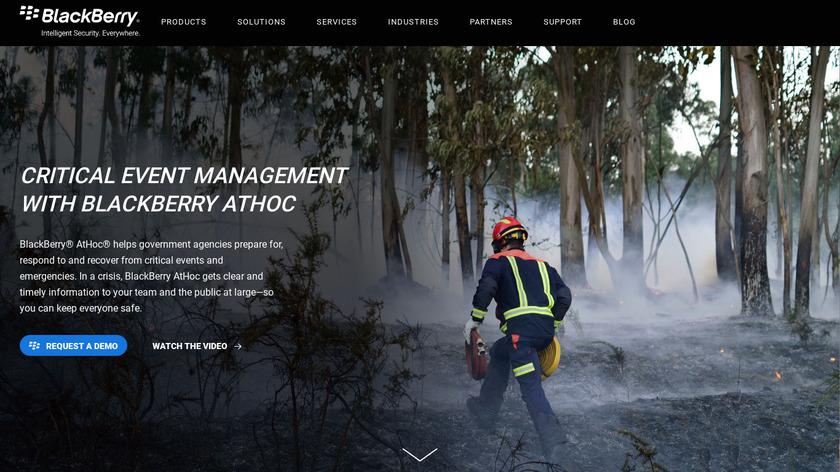AtHoc Landing Page