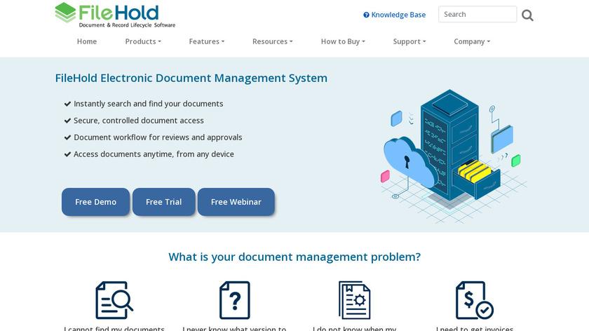 FileHold Landing Page