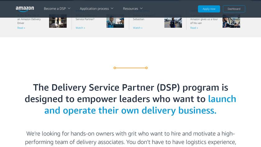 Amazon Logistics Landing Page