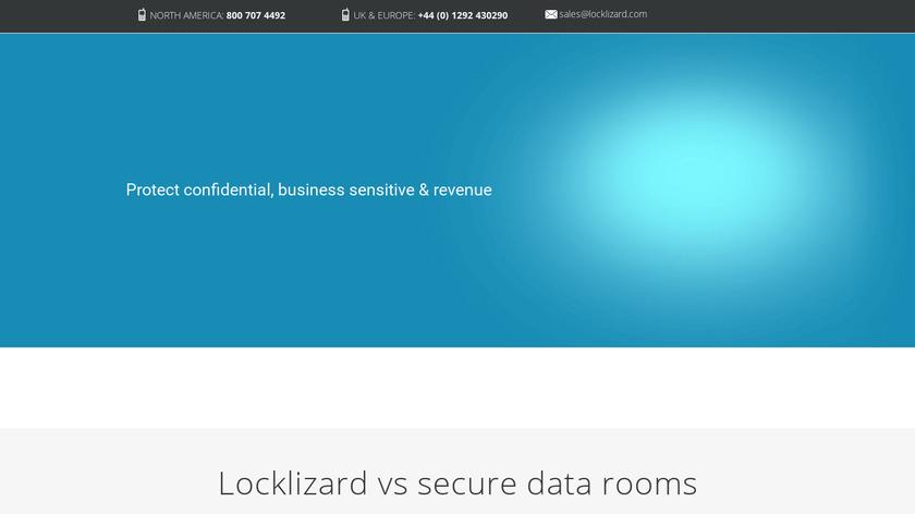 Locklizard Safeguard PDF Security Landing Page