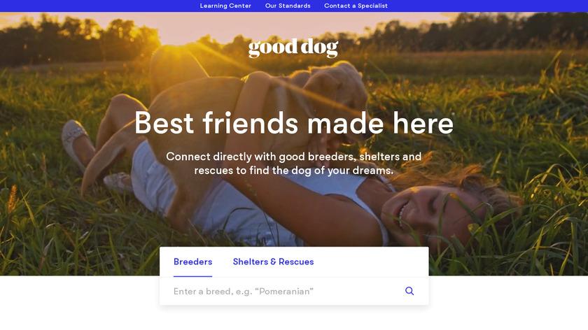 Good Dog Landing Page
