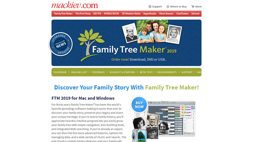 Family Tree Maker Landing Page