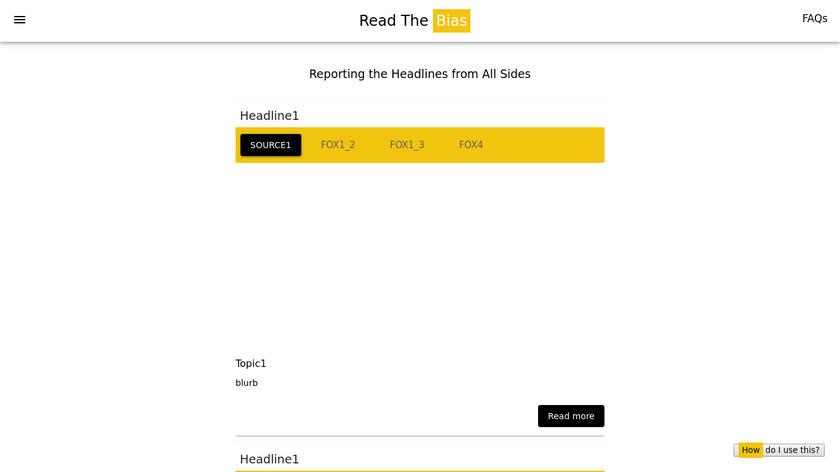 ReadTheBias Landing Page