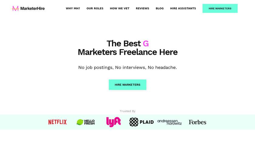 MarketerHire Landing Page