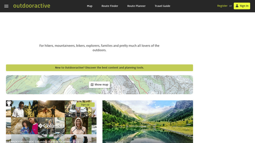 Outdooractive Landing Page