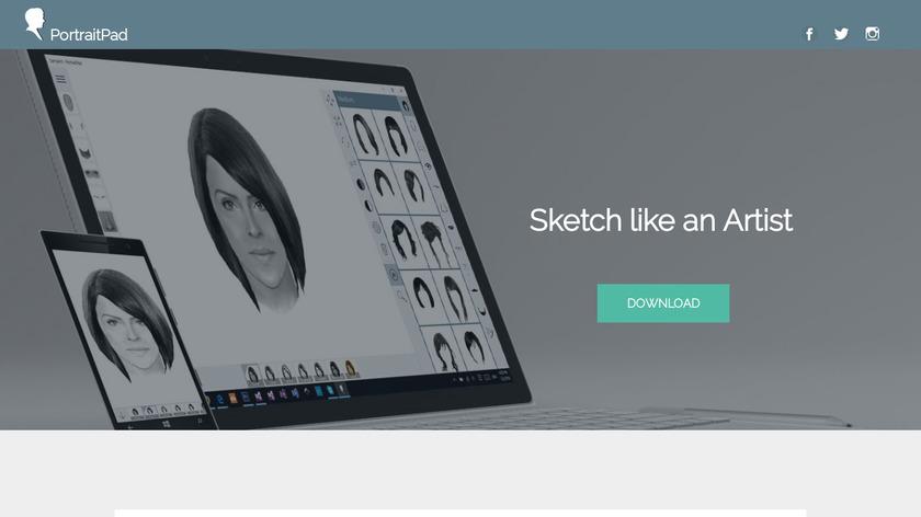 PortraitPad Landing Page