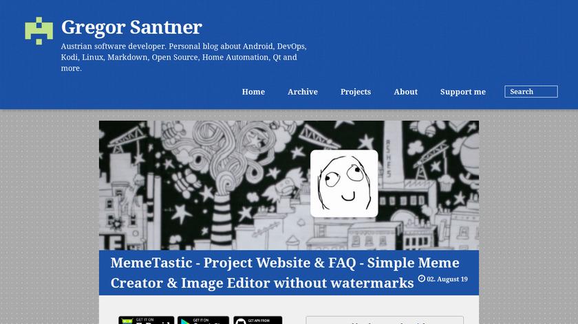 MemeTastic Landing Page