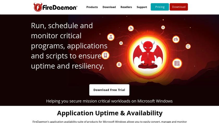FireDaemon Landing Page