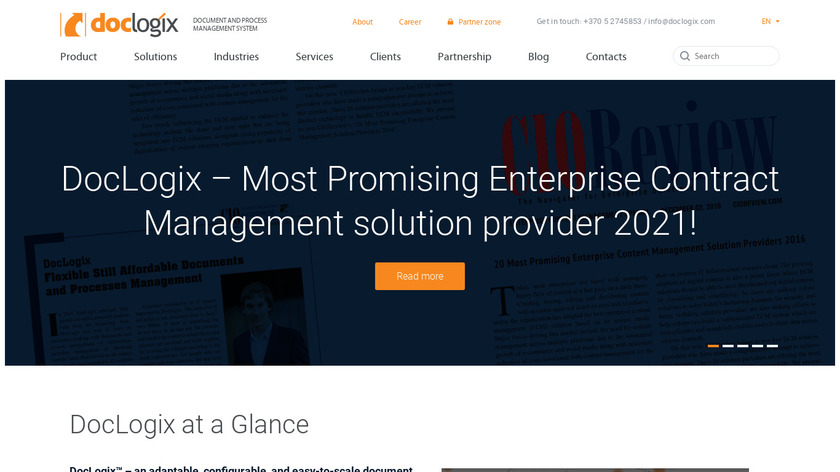 DocLogix Landing Page