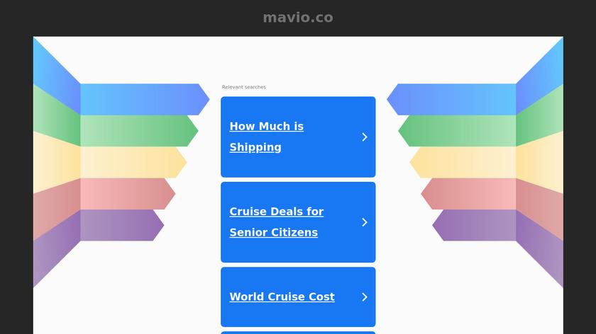 MAVIO Landing Page