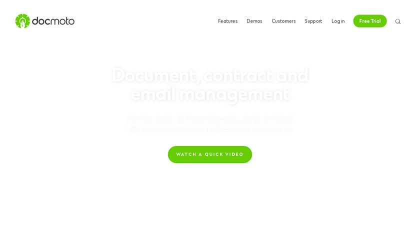 DocMoto Landing Page