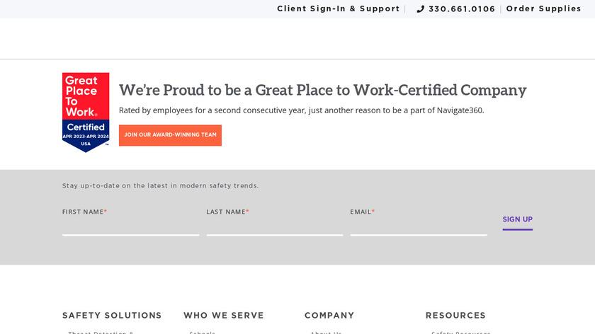 NaviGate Prepared Landing Page