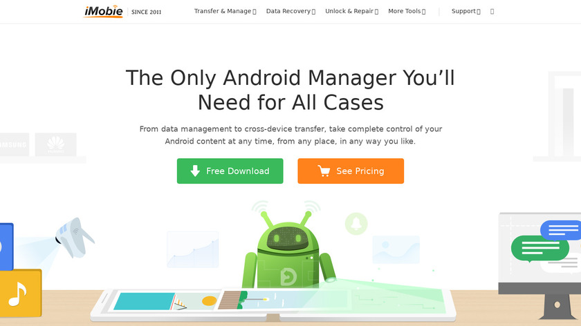 AnyTrans for Android Landing Page