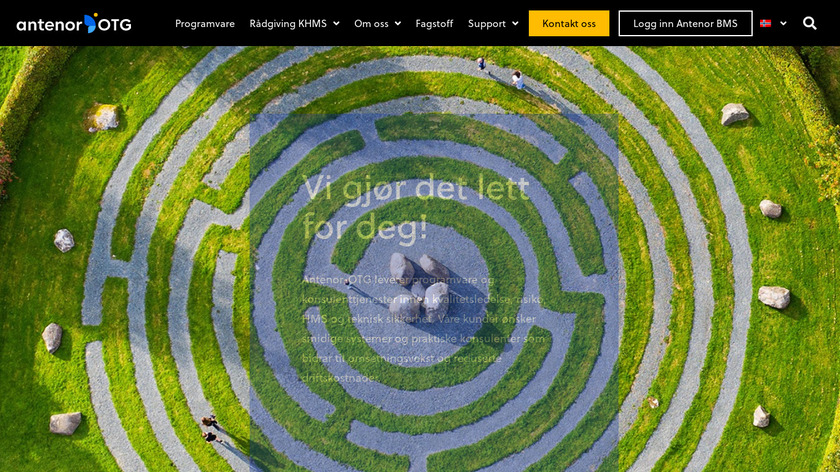 Antenor Management System Landing Page